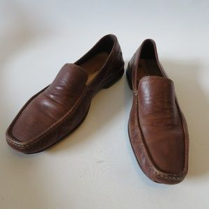 MENS COLE HAAN BROWN LEATHER LOAFER SHOES SZ 9*